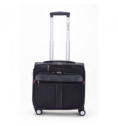 RK-2088 B-CORSO business trolley 40X43.50X25CM TSA slot kleur zwart/pink
